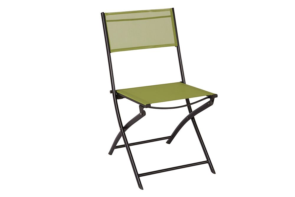 The Home Depot Patio Sling Folding Chair in Green