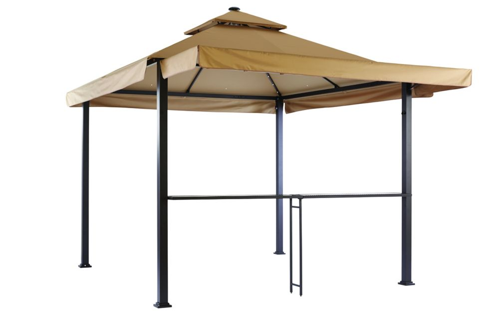 Hampton Bay 10 ft. x 10 ft. Gazebo with Solar Powered LED Lighting