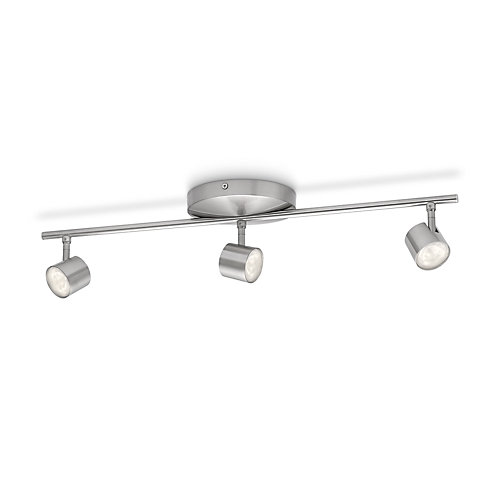 LED Track Fixture 3 Light Nickel