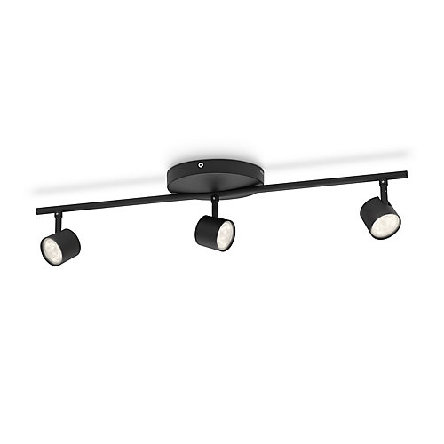 LED Track Fixture 3 Light Black