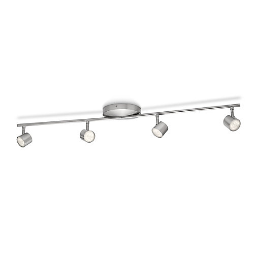 LED Track Fixture 4 Light Nickel