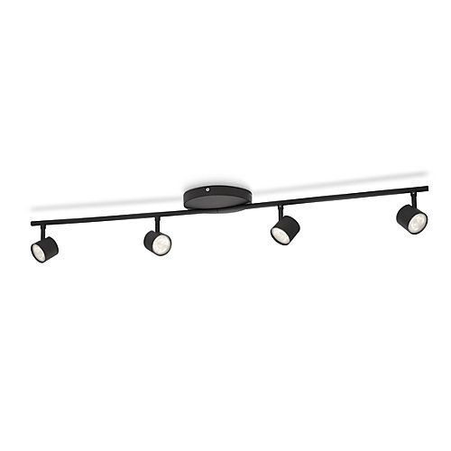 LED Track Fixture 4 Light Black