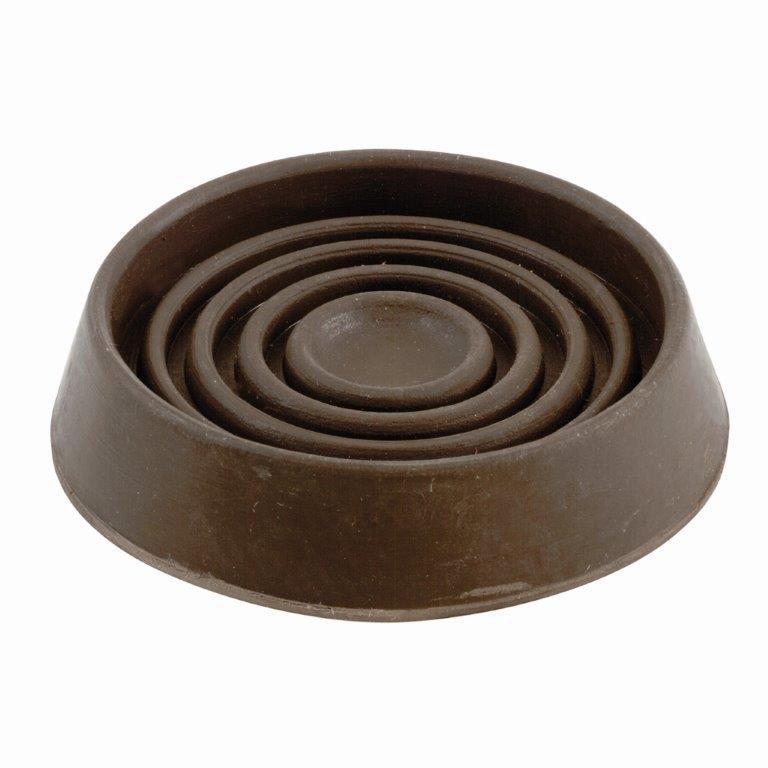 Everbilt 3 inch Brown Rubber Furniture Cups, 2-Pack