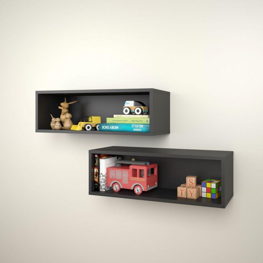 Avenue Rectangular Wall Shelves (2) from Nexera
