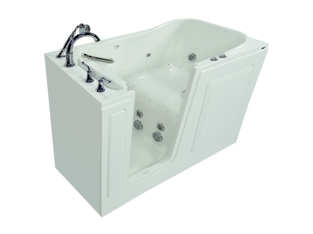 Gelcoat Combination Whirlpool And Air Spa Walk In Bath With Quick Drain C3060.409.CLW-PC in Canada