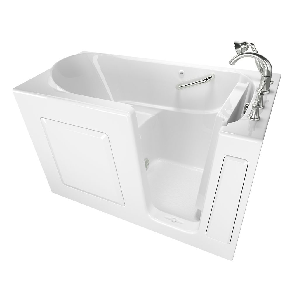 American Standard Gelcoat Soaking Walk-In Non Whirlpool Bathtub With Quick Drain