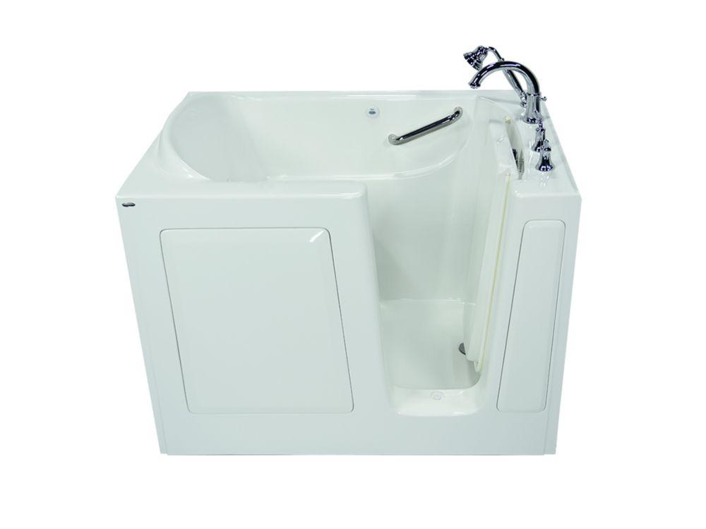 Gelcoat Soaking Walk-In Non Whirlpool Bathtub With Quick Drain