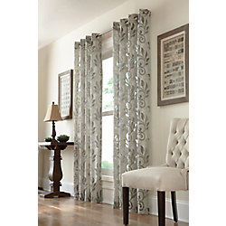 Home Decorators Collection Amarylis Sheer Grommet Curtain 50 inches width X 84 inches length, Ivory