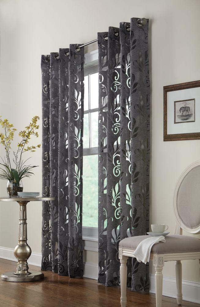 Home Decorators Collection Panneau Illets Argent 50 X 108 Home Depot Canada
