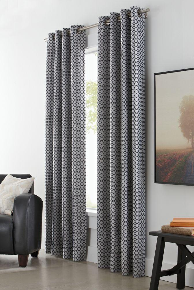 Home Decorators Collection Grommet, Black, 50 x 108
