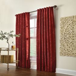 Home Decorators Collection Pocket Top/Back Tab, Burgundy, 50 x 84