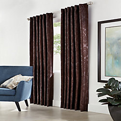 Home Decorators Collection Belgique Blackout Back Tab Curtain 50 inches width X 108 inches length, Espresso