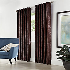 Home Decorators Collection Pocket Top Back Tab Espresso 50 X 108 The Home Depot Canada
