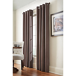 Home Decorators Collection Darcy Blackout Curtain Grommet Curtain54 inches width X 108 inches length, Brown