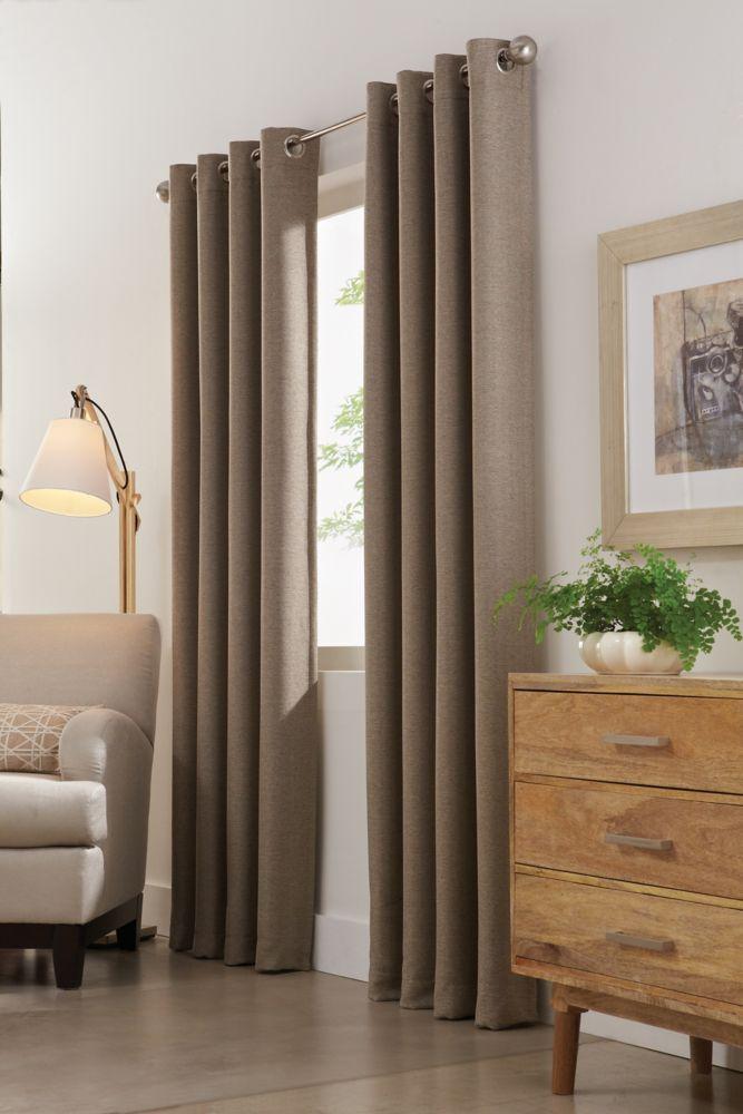 Home Decorators Collection Panneau Illets Champignon 54 X 108 Home Depot Canada