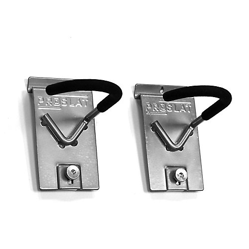 9.5-inch H x 6-inch W Vertical Bike Hook (2-Pack)