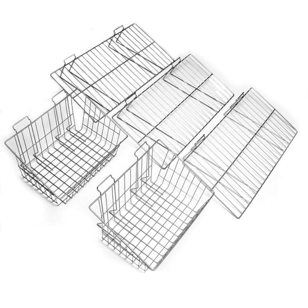 Proslat 5-Piece Shelf & Basket Kit for Garage Wall Storage Systems