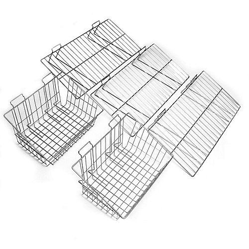 5-Piece Shelf & Basket Kit for Garage Wall Storage Systems