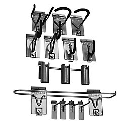 Wall Storage Solutions, Sports Hook Kit - (13-Piece), Silver