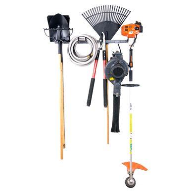 grand ensemble de rangement pour outils de jardin