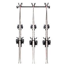 ensemble de rangement pour ski alpin multiple (3 pairs)