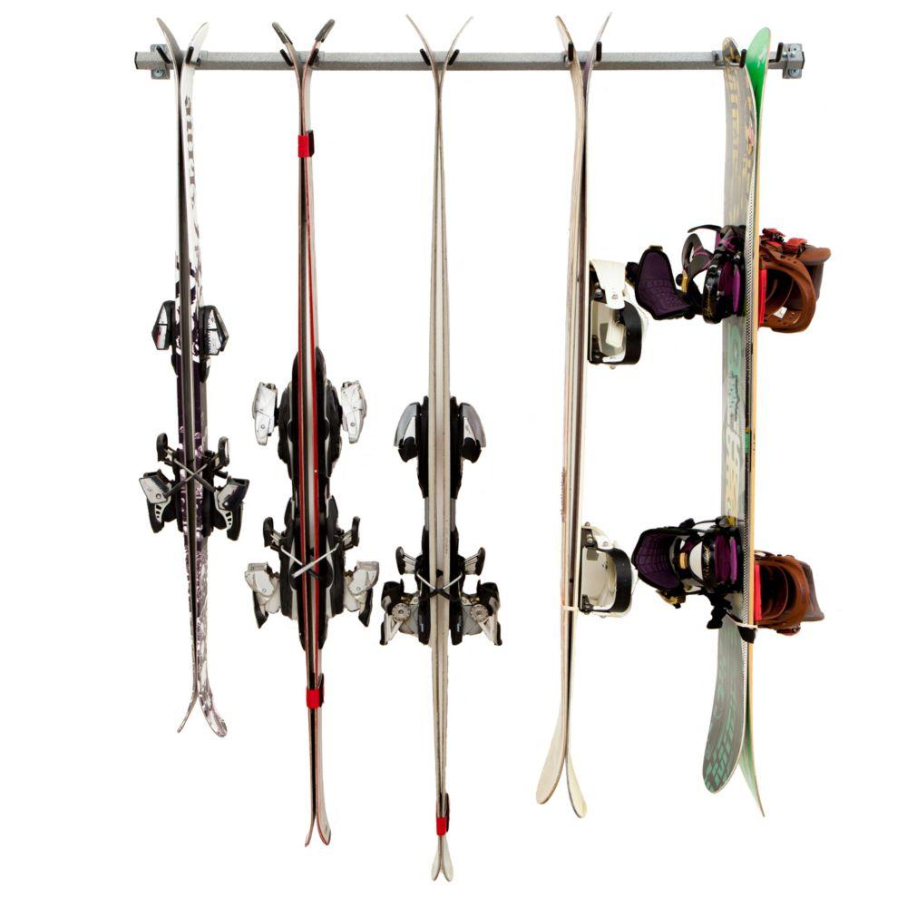 ensemble de rangement pour planche a neige et skis