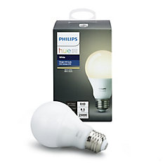 Systéme déclairage sans fil personnel Philips Hue - DEL A19 simple (Blanche) - ENERGY STAR®