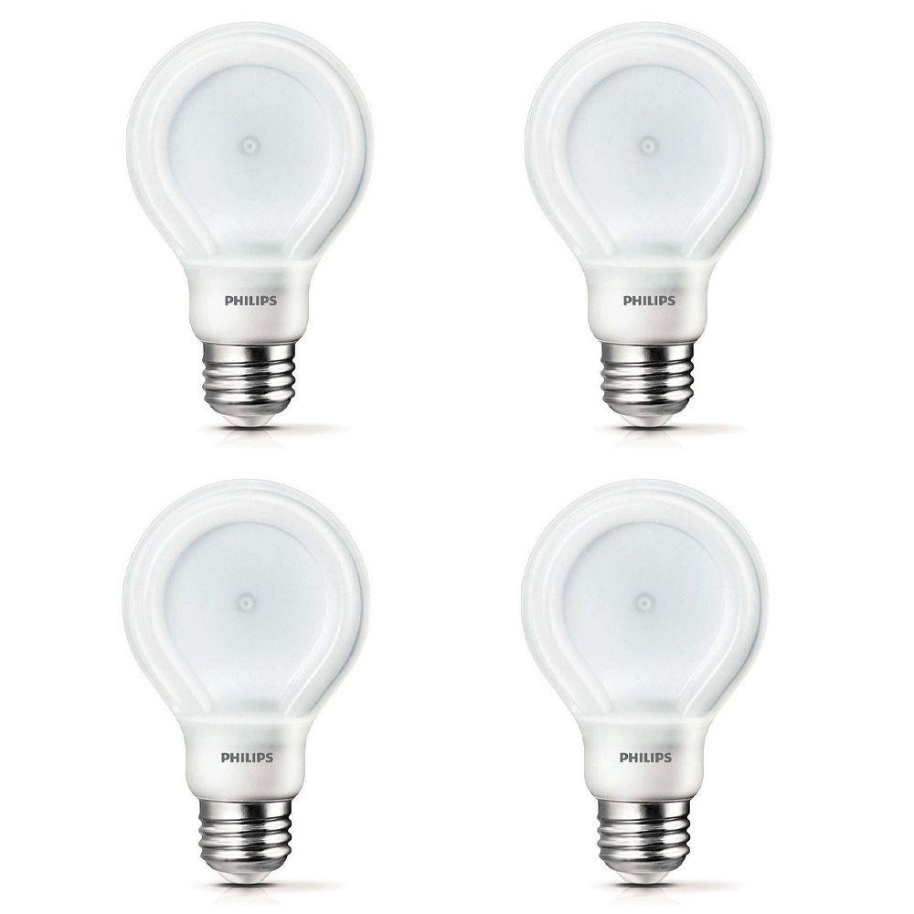 DEL SlimStyle 13 W = 75W, blanc doux (2700K) A21 - Cas de 4 Ampoules