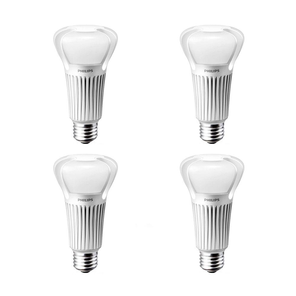 LED 5/9/20W = 40/60/100W - 3 Way A-Line Soft White (2700K) - Case Of 4 Bulbs