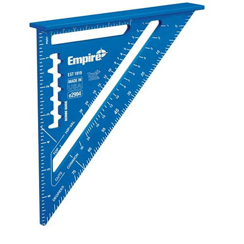 Empire 7-Inch Laser Etched Aluminum Rafter Square