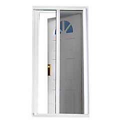SeasonGuard 81.5-inch  White Retractable Screen Door (Standard Doors 79-inches to 80.5-inches)