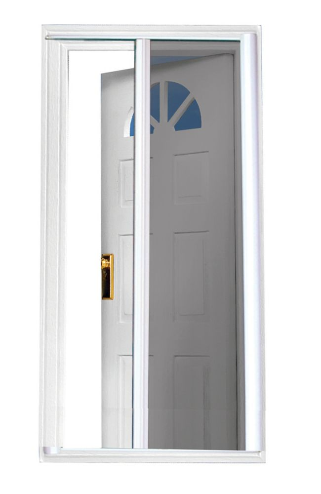81.5 Inch SeasonGuard White Retractable Screen Door (Standard Doors  79 Inches To 80.5