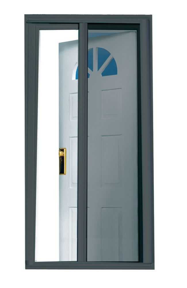 Seasonguard Charcoal 81 5 Inch Retractable Screen Door