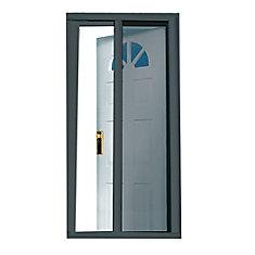 Charbon de Bois 81.5 pouce Retractable Screen Door Fits Standard Portes 79 pouce to 80.5 pouce