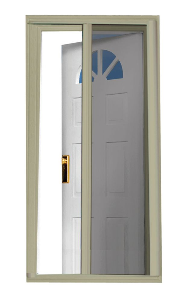 Seasonguard 97 5 inch sandstone retractable screen door for Sliding screen door canada