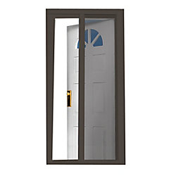 SeasonGuard Brun 97.5 pouce Retractable Screen Door Fits Portes 95 pouce to 96.5 pouce