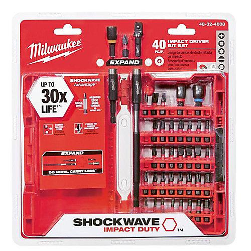 40-Piece Impact Set Shockwave Kit