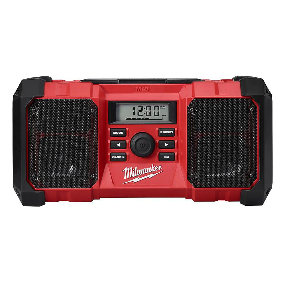 M18 Lithium-Ion Cordless Jobsite Radio with Durable Body and 3.5mm Auxiliary Jack (Tool Only)