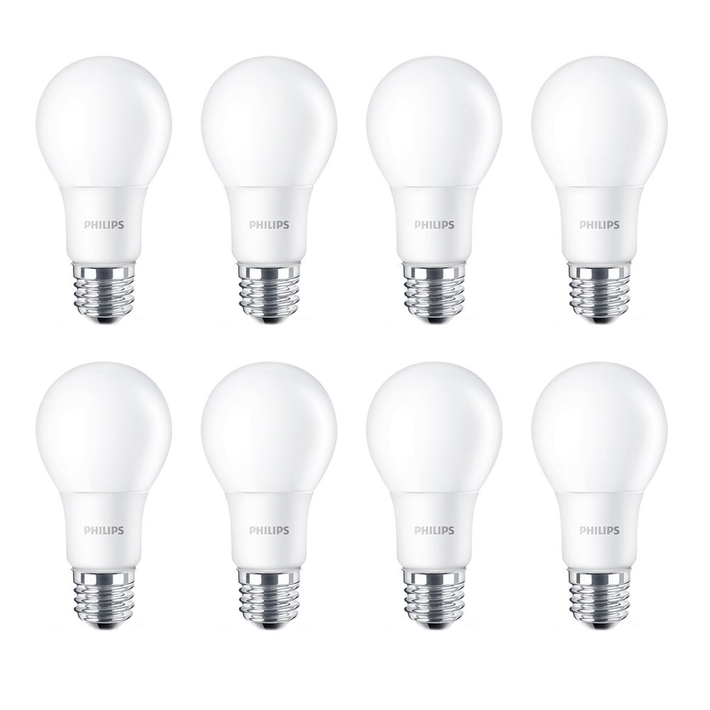 LED 8W = 60W A-Line (A19) Daylight Non-Dimmable (5000K) - Case Of 8 Bulbs