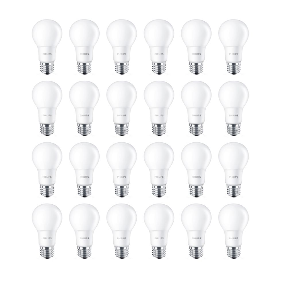 LED 8W = 60W A-Line (A19) Daylight Non-Dimmable (5000K) - Case of 24 Bulbs