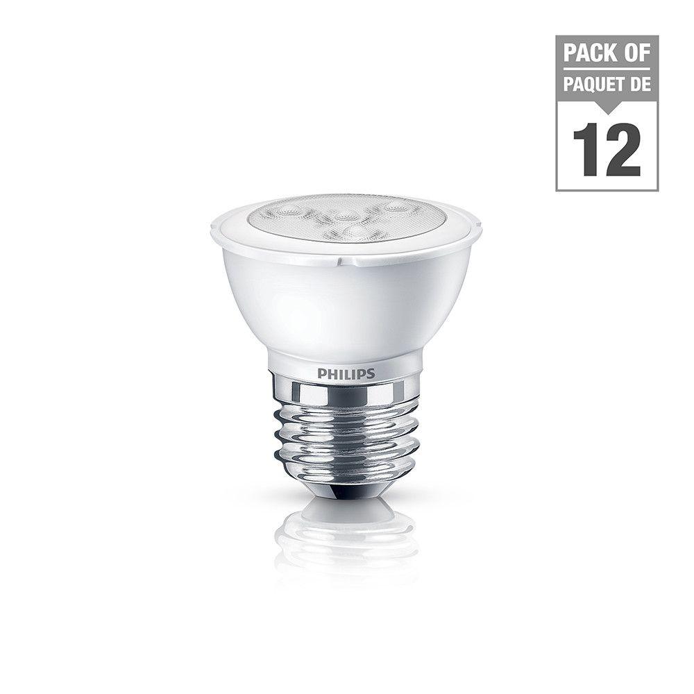 LED 6W = 50W PAR16 Bright White (3000K) - Case of 12 Bulbs