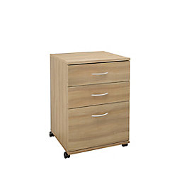 Nexera Essentials 18.6-inch x 26.6-inch x 17.6-inch 3-Drawer Manufactured Wood Filing Cabinet in Brown