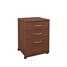 Essentials 18.6-inch x 26.6-inch x 17.6-inch 3-Drawer Manufactured Wood Filing Cabinet in Brown