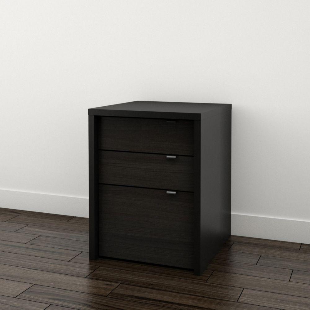 drawer storage lateral wood black single file cabinet locking