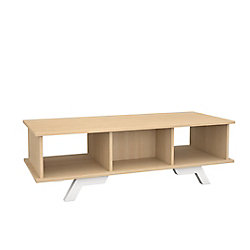 Nexera 104239 Table basse Stiletto, érable naturel et blanc