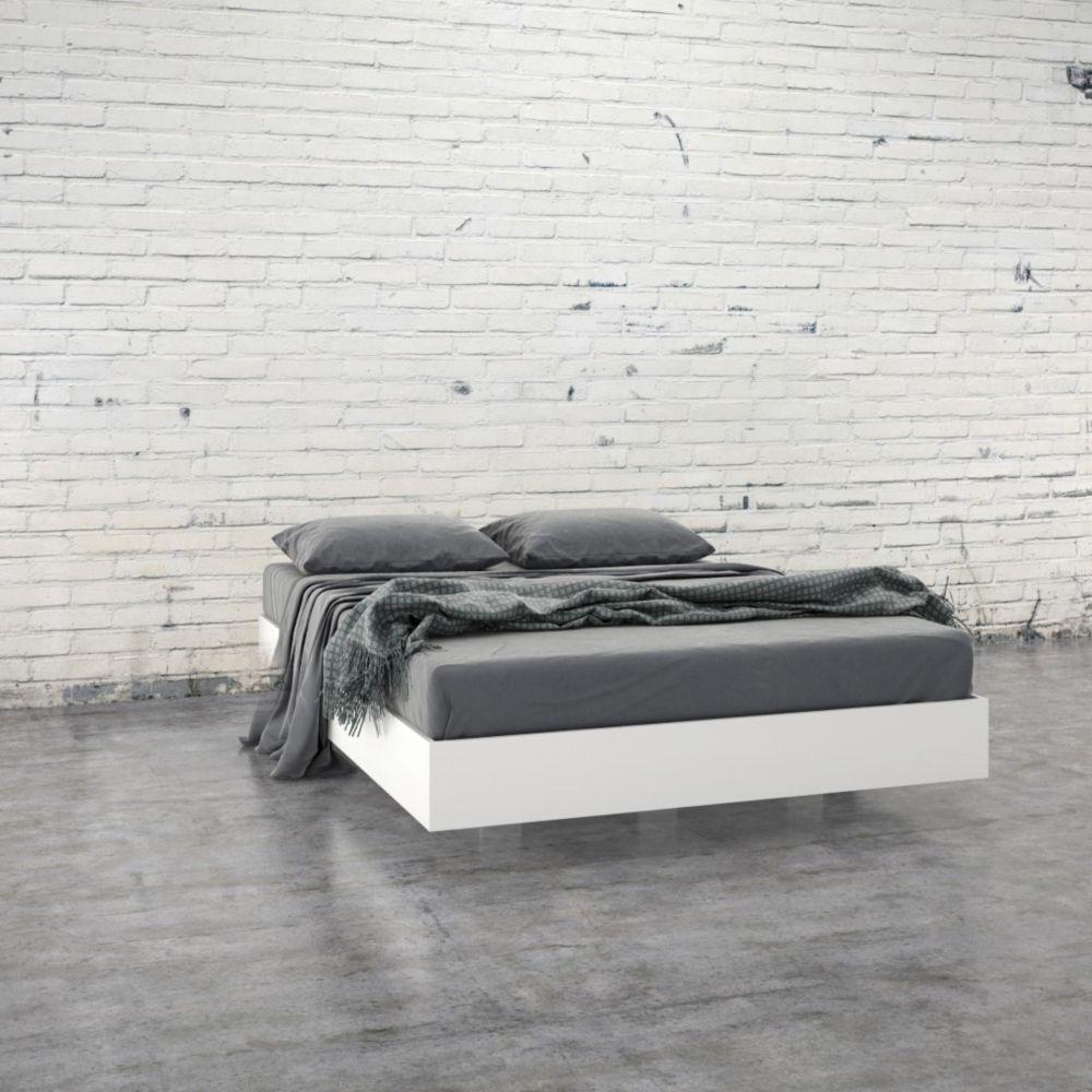 Nexera 345403 Full Size Platform Bed, White