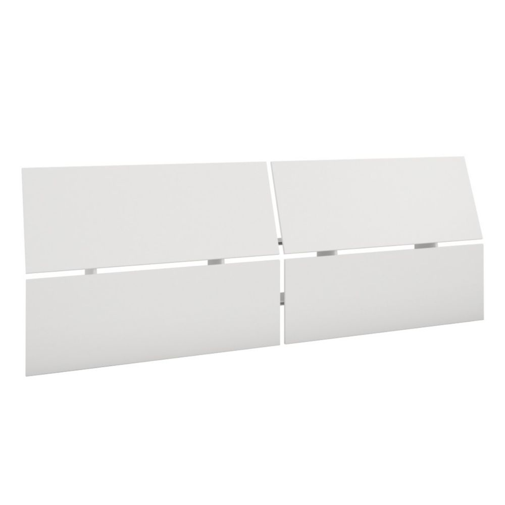 Nexera 345903 Queen Size Panoramic Headboard, White