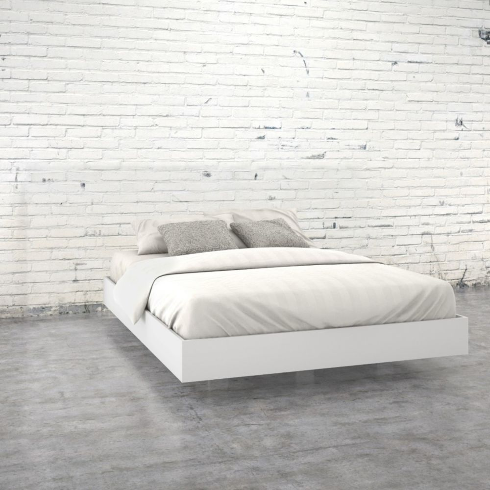 Nexera 346003 Queen Size Platform Bed, White