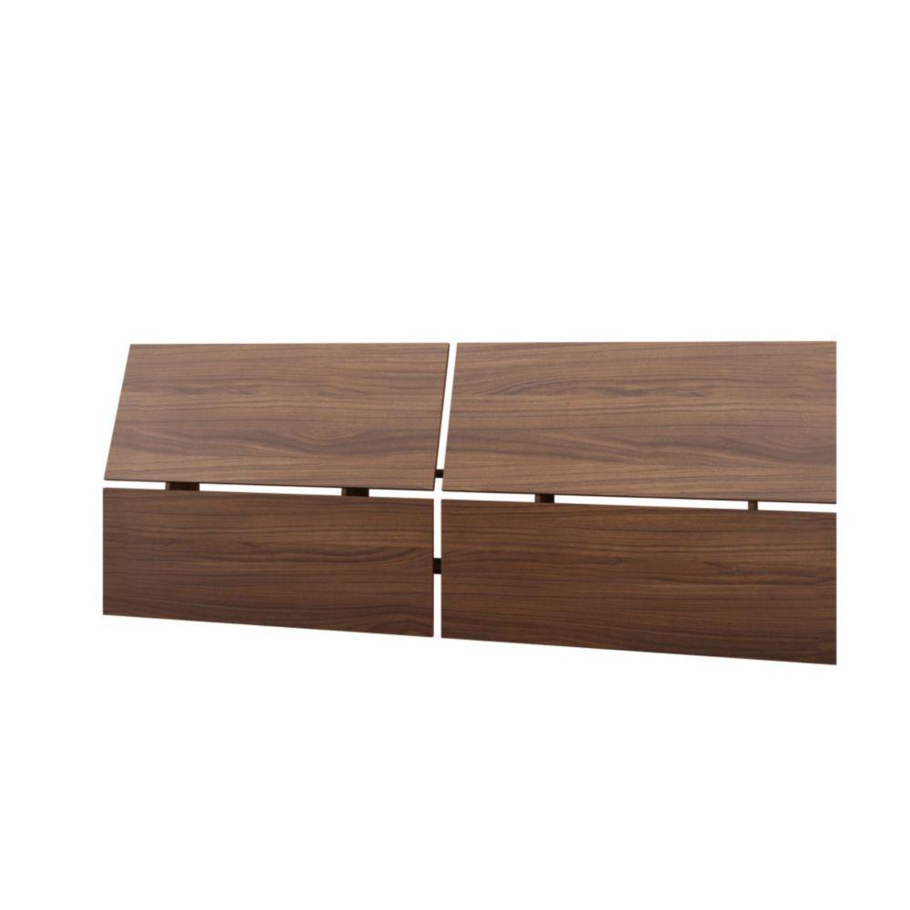 Nexera 345331 Alibi Full Size Panoramic Headboard, Walnut