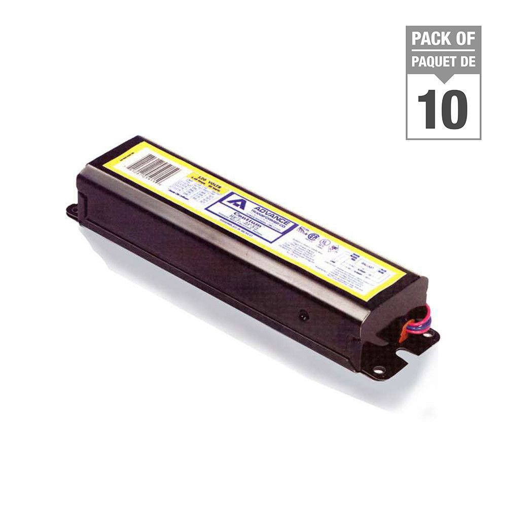 "Fluorescent Ballast 2 Lamp 48"" T8 Instant Start 120V - Case of 10 Ballasts"